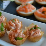 Crayfish cocktail filo tartlets